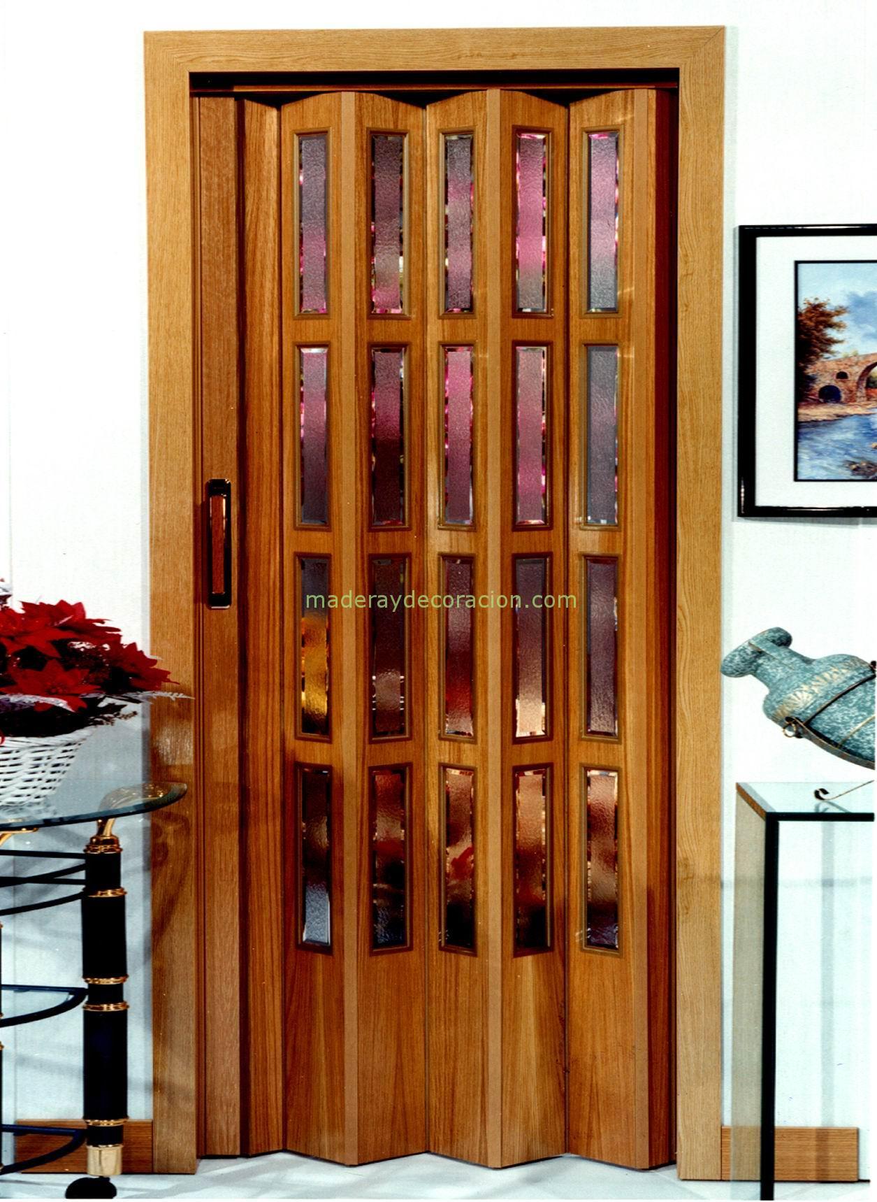 Puertas plegables madera natural - Puerta corredera plegable ...