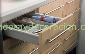 Cajones y gavetas para muebles de cocina