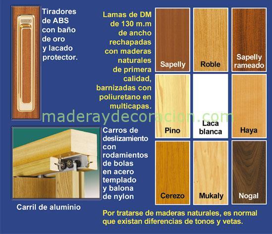 Colores plegables madera