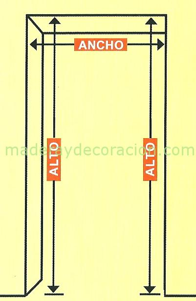 medicion puerta puerta plegable