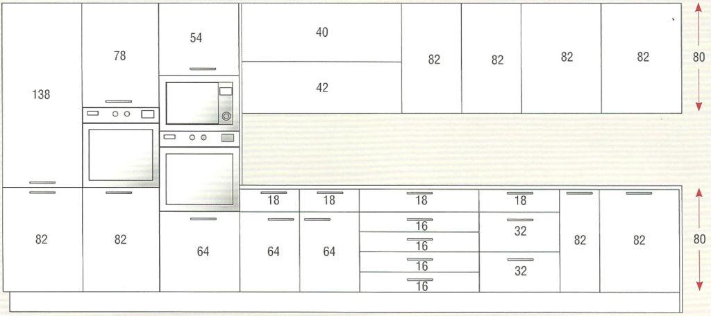 Medida de muebles de cocina idea creativa della casa e for Medidas de mesones para cocina