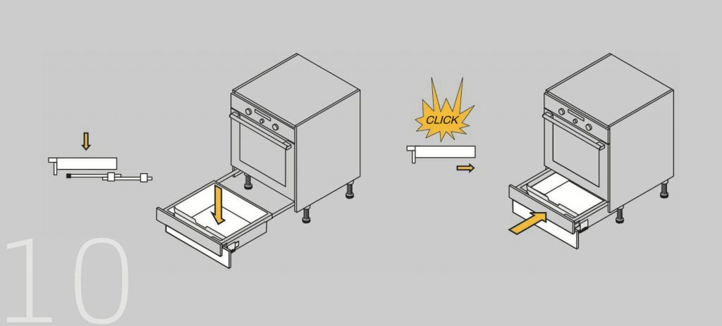 cajón bajo horno indaux