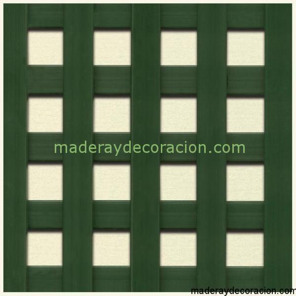 Celosía verde cuadrada 20x20