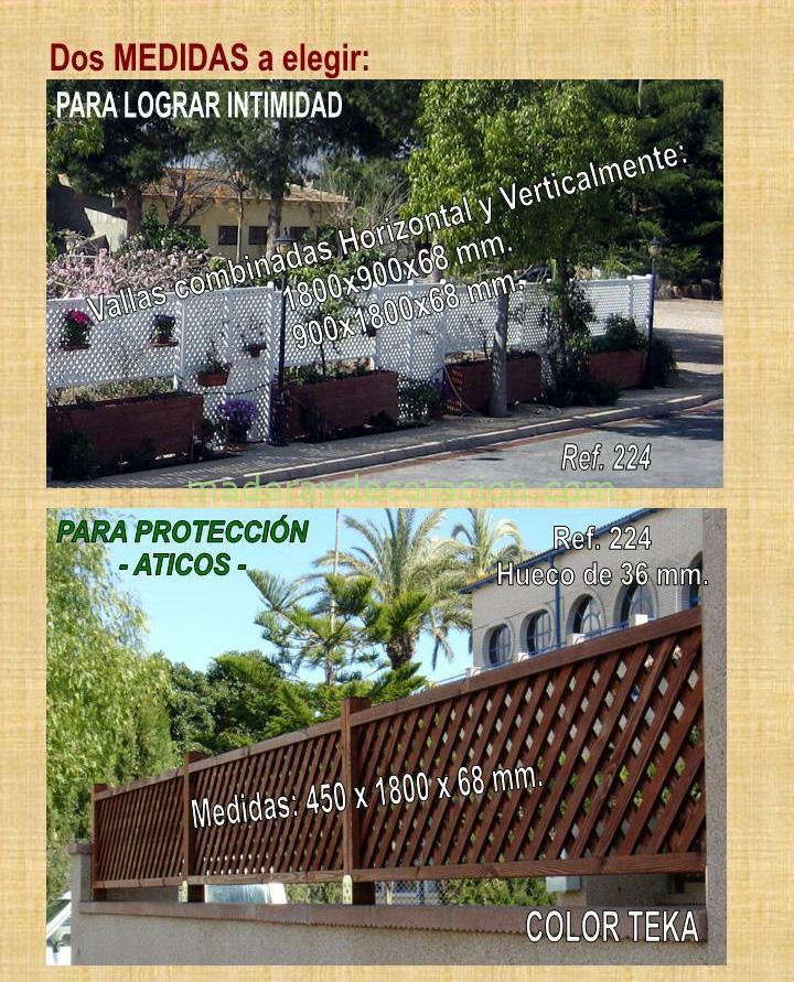 Celosías para áticos y jardines