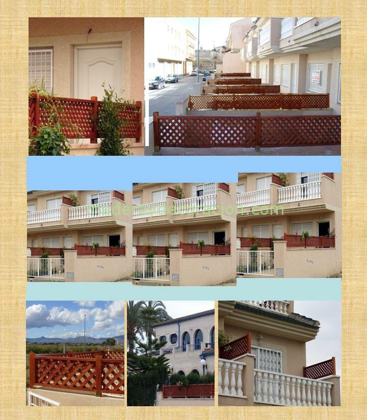 Celosías para intimidad terrazas