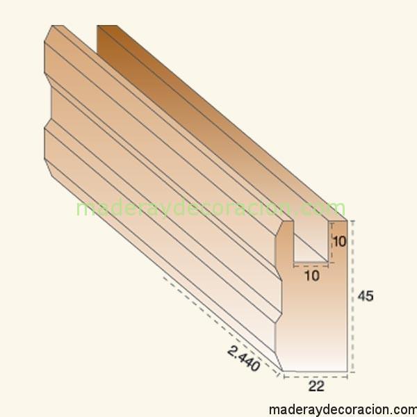 Cerco celosía madera pino 10 mm