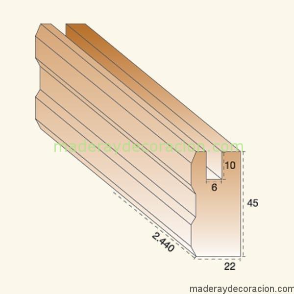 Cerco celosía madera  pino 6mm