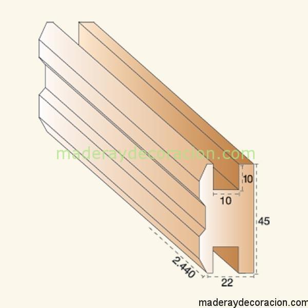 Cerco doble celosía madera pino 10 mm