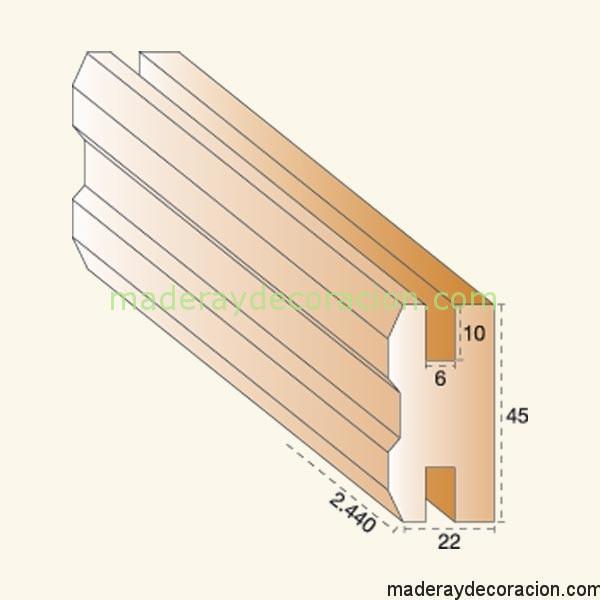 Cerco doble celosía madera  pino 6mm