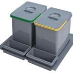cubos reciclaje para cajón de 60cm.
