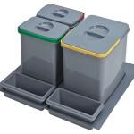 3 cubos reciclaje para cajón de 60cm.