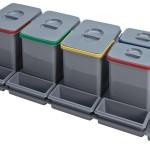 5 cubos reciclaje para cajón de 90cm.