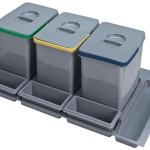 3 cubos reciclaje para cajón de 90cm.