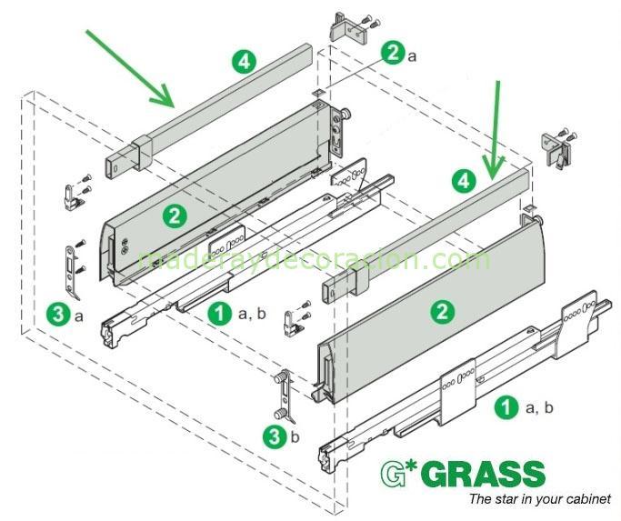 Montaje gavetero GRASS Nova Plus