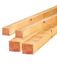Largueros de madera maciza