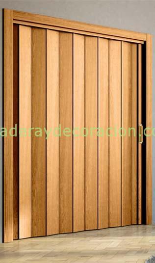 Puertas plegables a medida de madera y pvc - Puertas de acordeon ...
