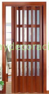 Puertas plegables pvc con vidrios
